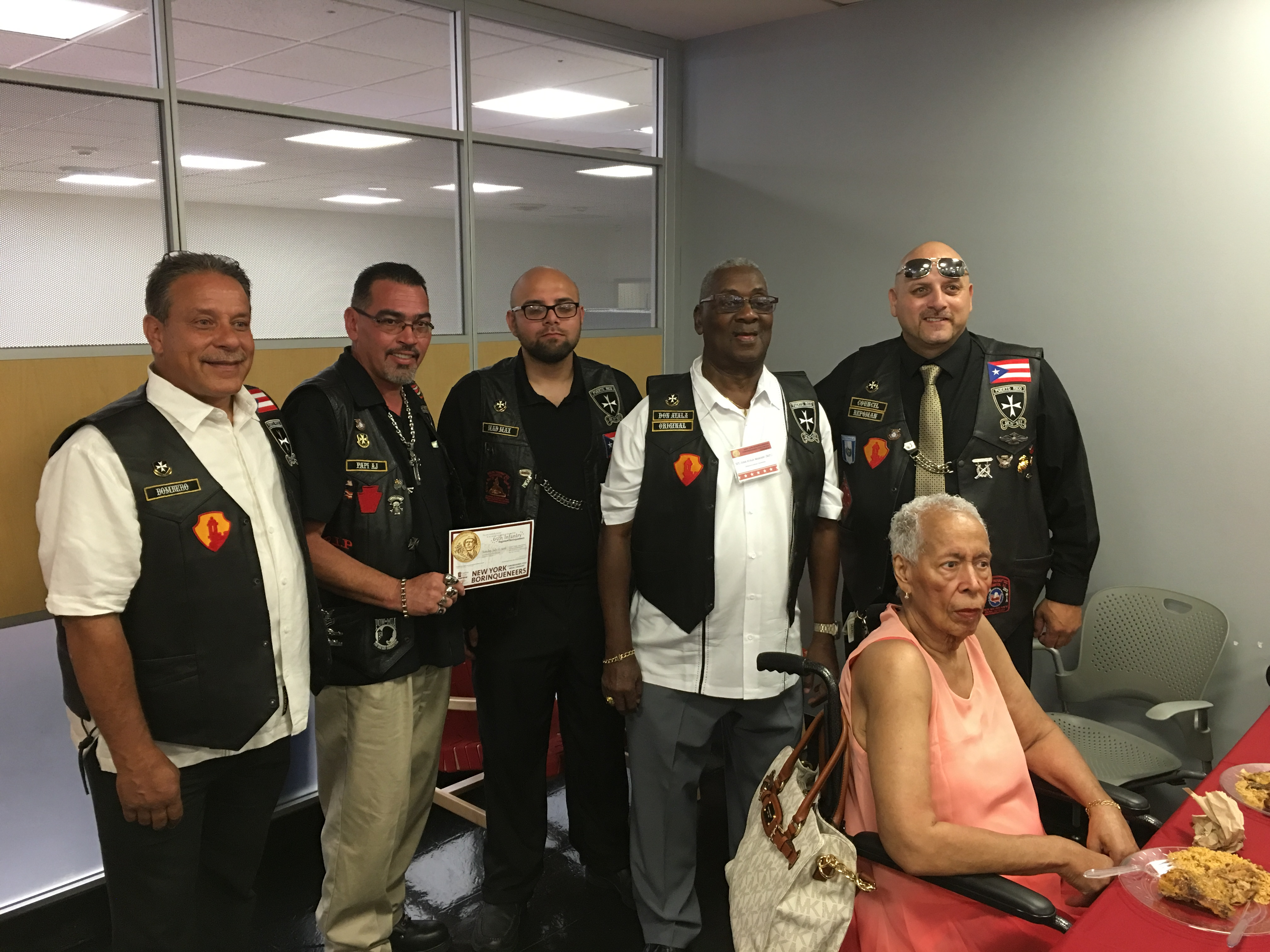 New York Jersey And Penna Members Of The Borinqueneers 65th Infantry Regiment MC